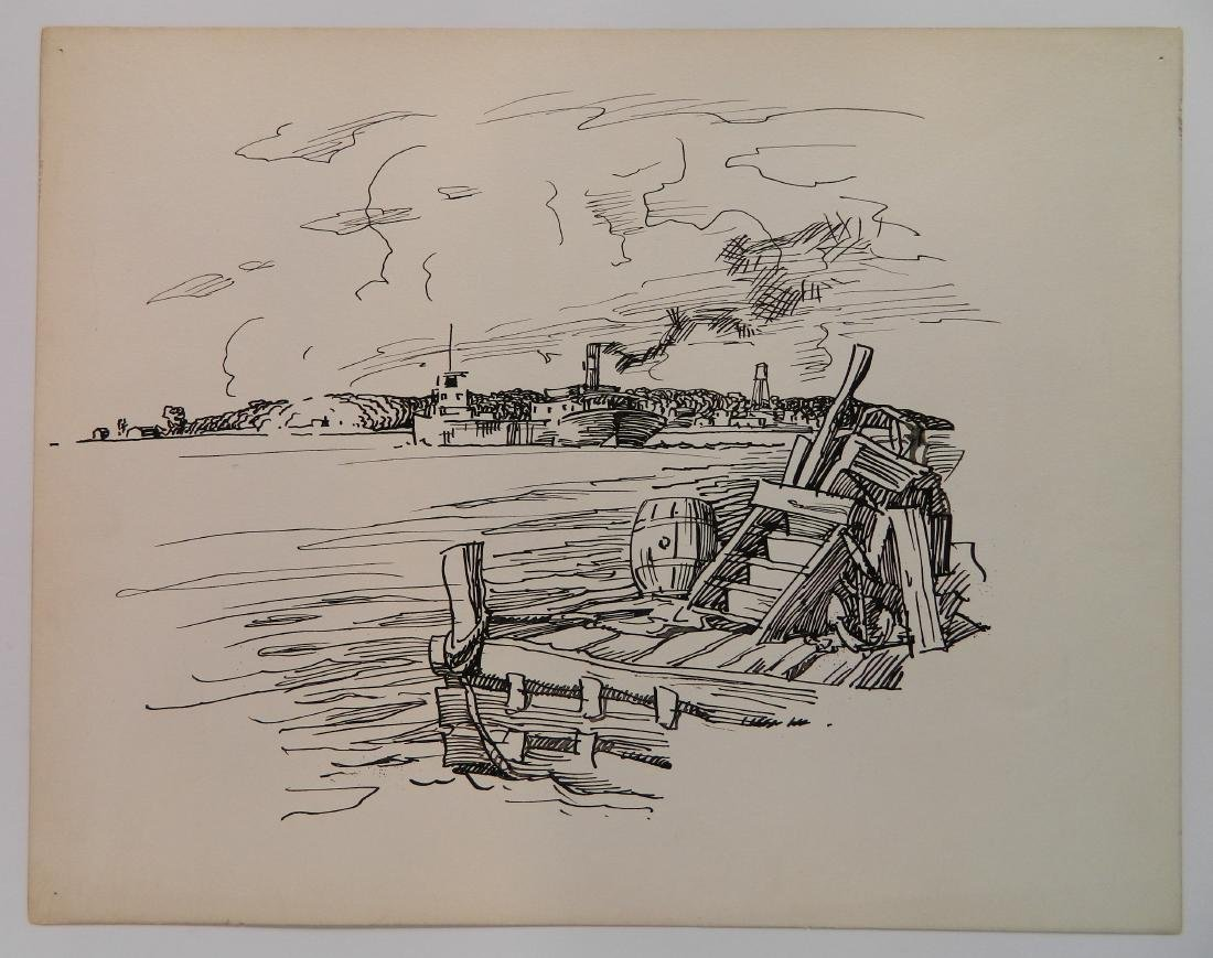 Attributed to Frank Wilcox 4 pen and ink - 7
