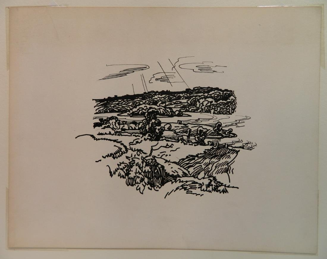 Attributed to Frank Wilcox 4 pen and ink - 9