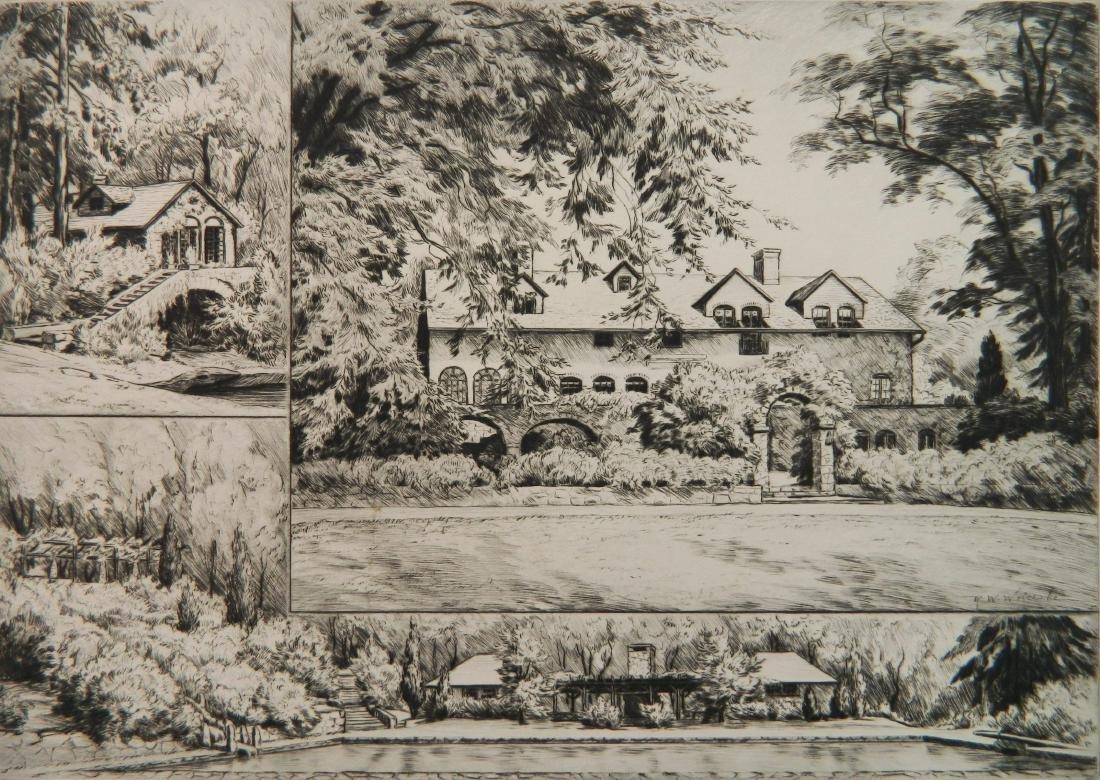 Ronau Woiceske etching