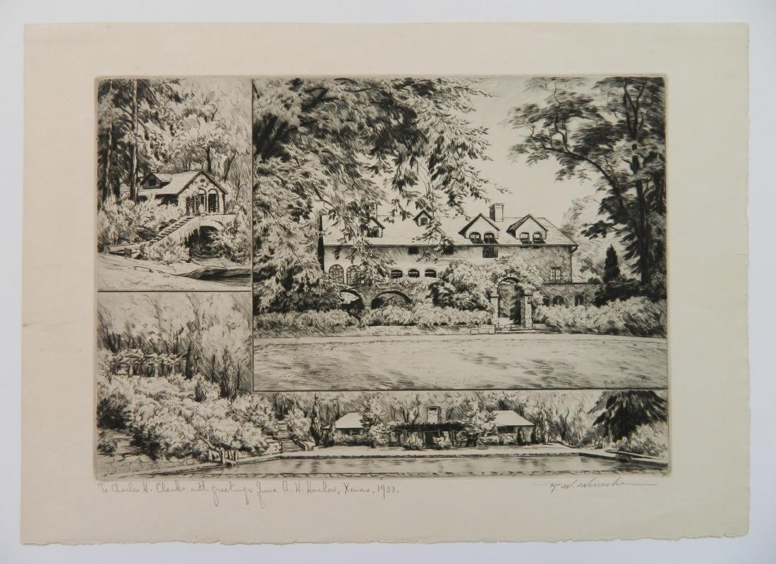 Ronau Woiceske etching - 2