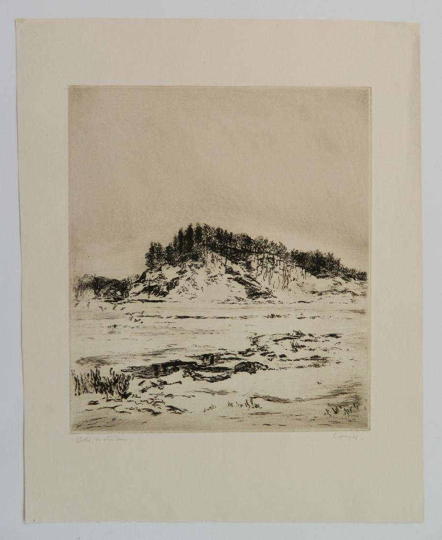George Wright 2 etchings - 2