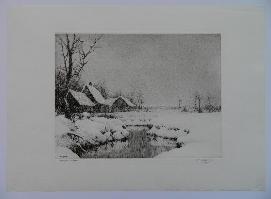 Charles Jac Young etching and drypoint - 2