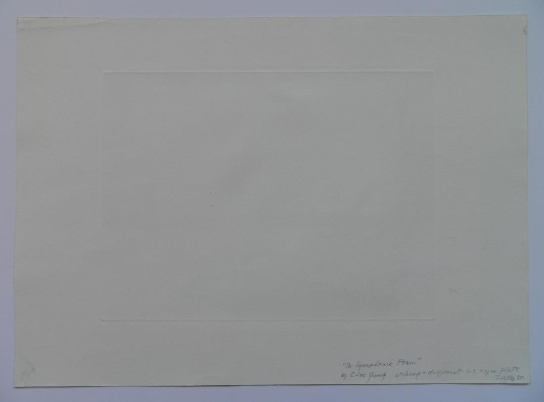 Charles Jac Young etching and drypoint - 4
