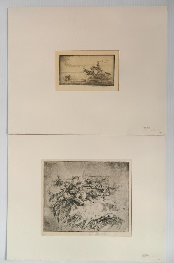 Henry Ziegler 2 etchings
