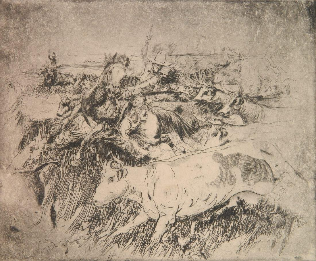 Henry Ziegler 2 etchings - 2