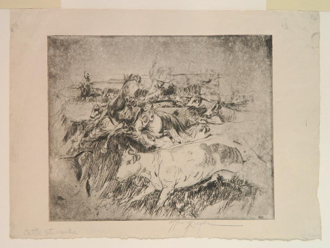 Henry Ziegler 2 etchings - 3