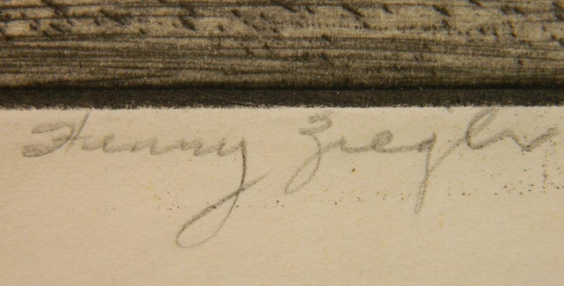 Henry Ziegler 2 etchings - 8
