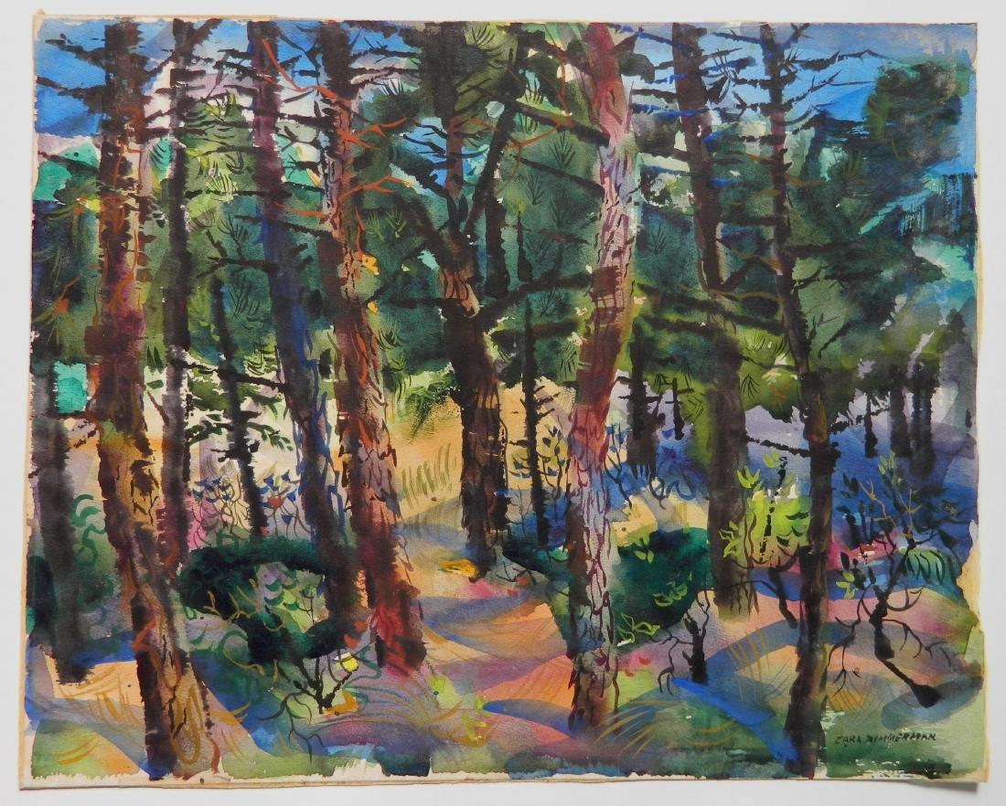 Carl Zimmerman watercolor - 2