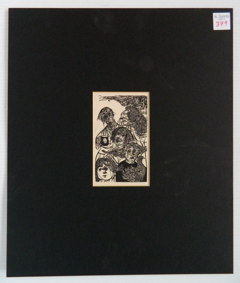 Leonard Baskin wood engraving - 2