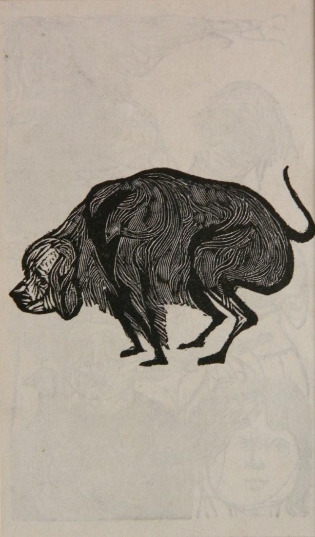 Leonard Baskin wood engraving - 3