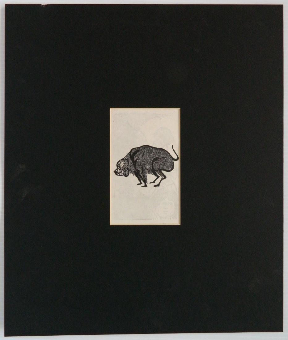 Leonard Baskin wood engraving - 4