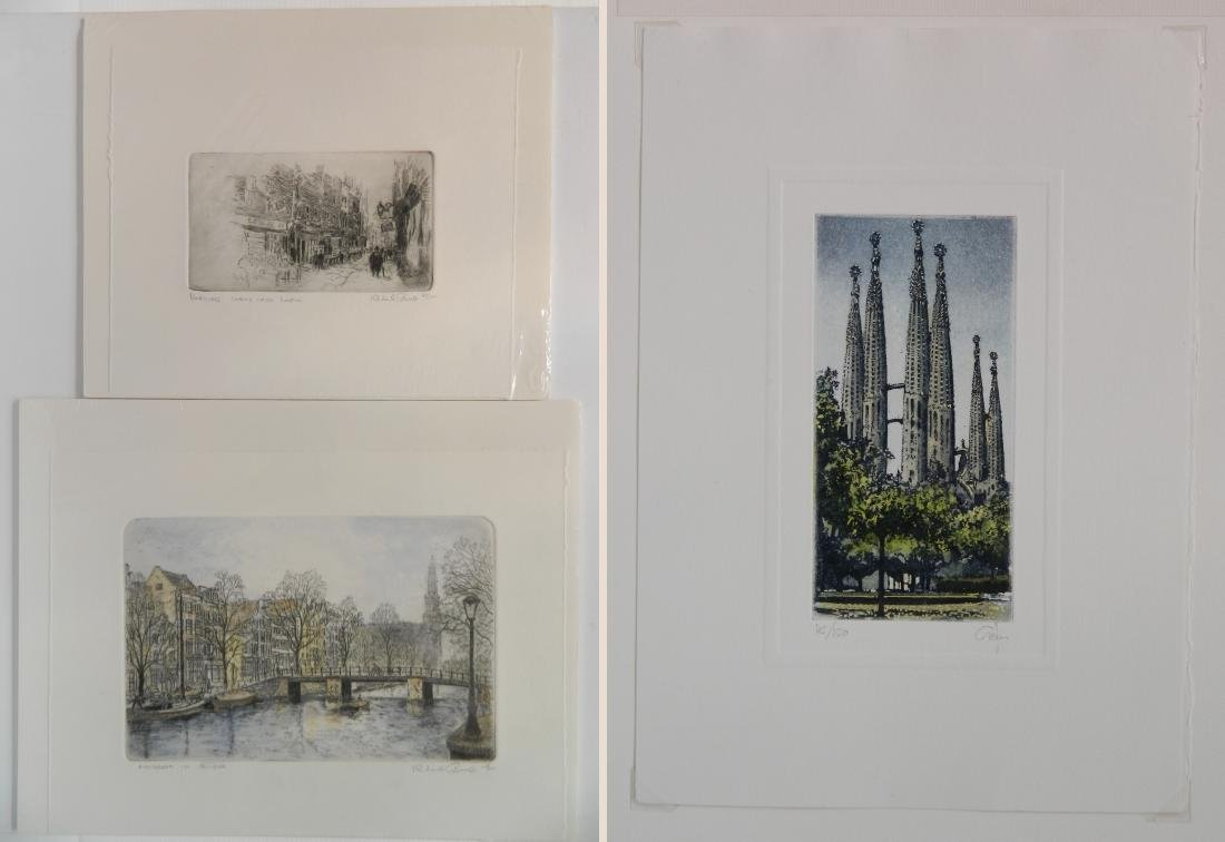Richard Bond 2 etchings