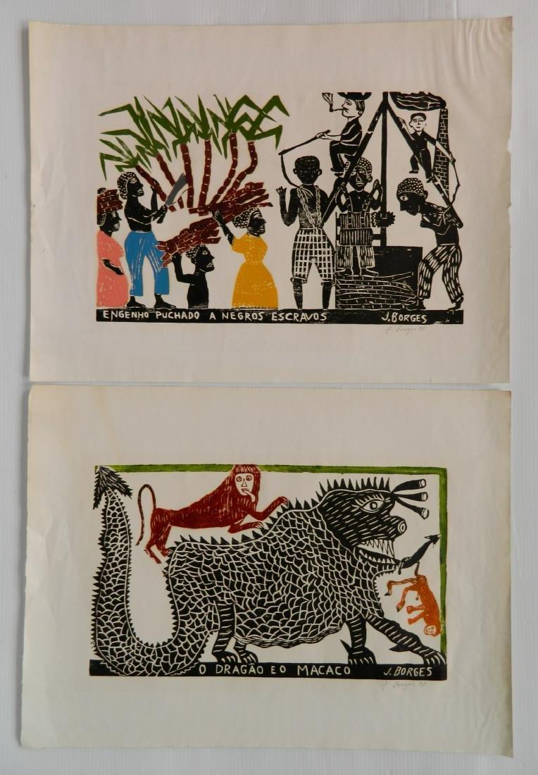 Jose Francisco Borges 2 woodcuts