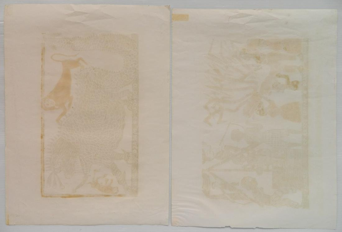 Jose Francisco Borges 2 woodcuts - 5