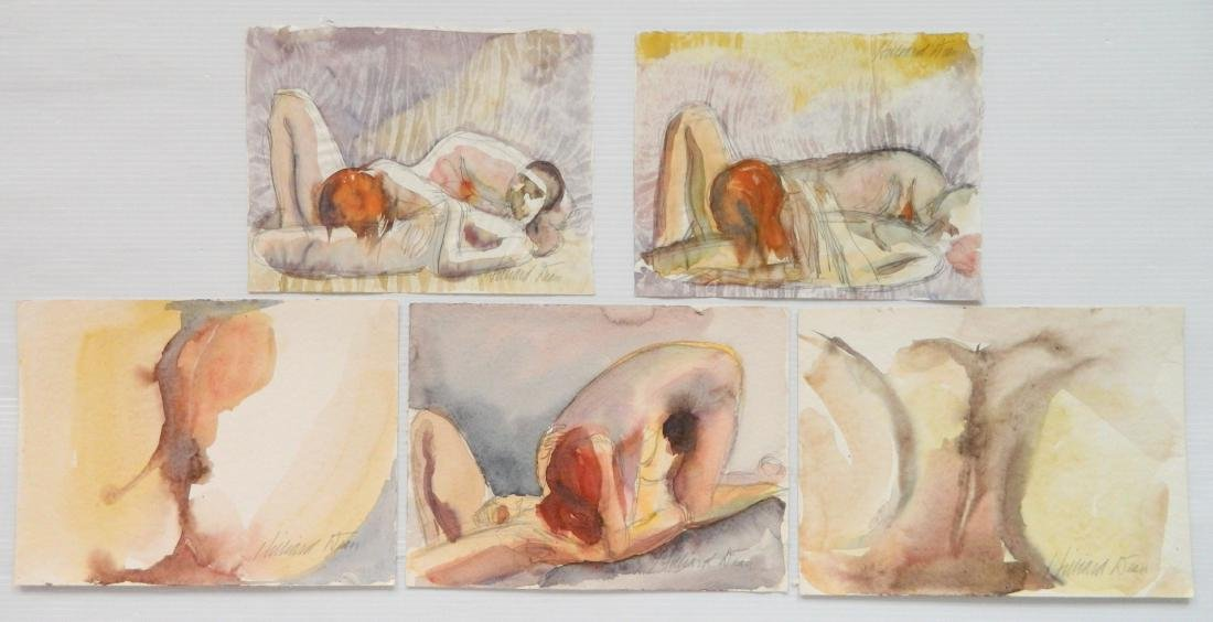 Hilliard Dean 5 watercolors