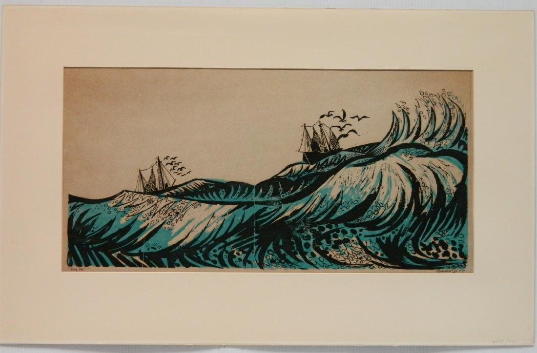 T. Elsner; L. Pierce - 2 woodcuts - 3