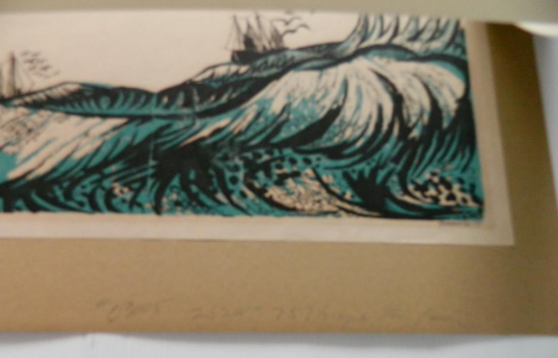T. Elsner; L. Pierce - 2 woodcuts - 5