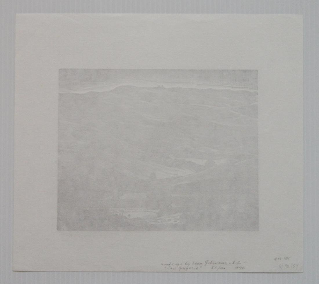 Leon Gilmour 3 wood engravings - 10