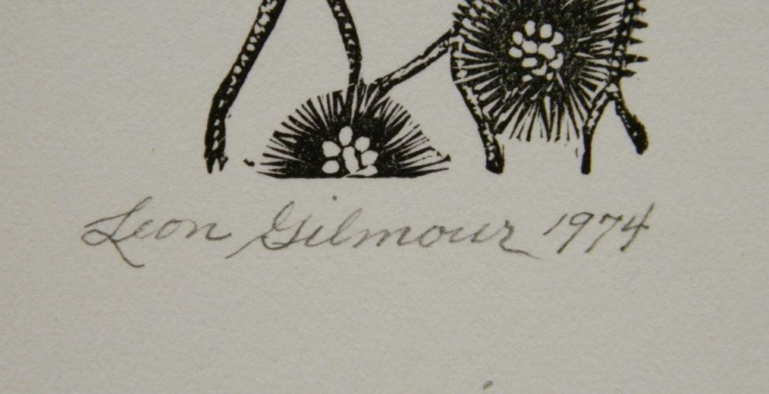 Leon Gilmour 3 wood engravings - 3