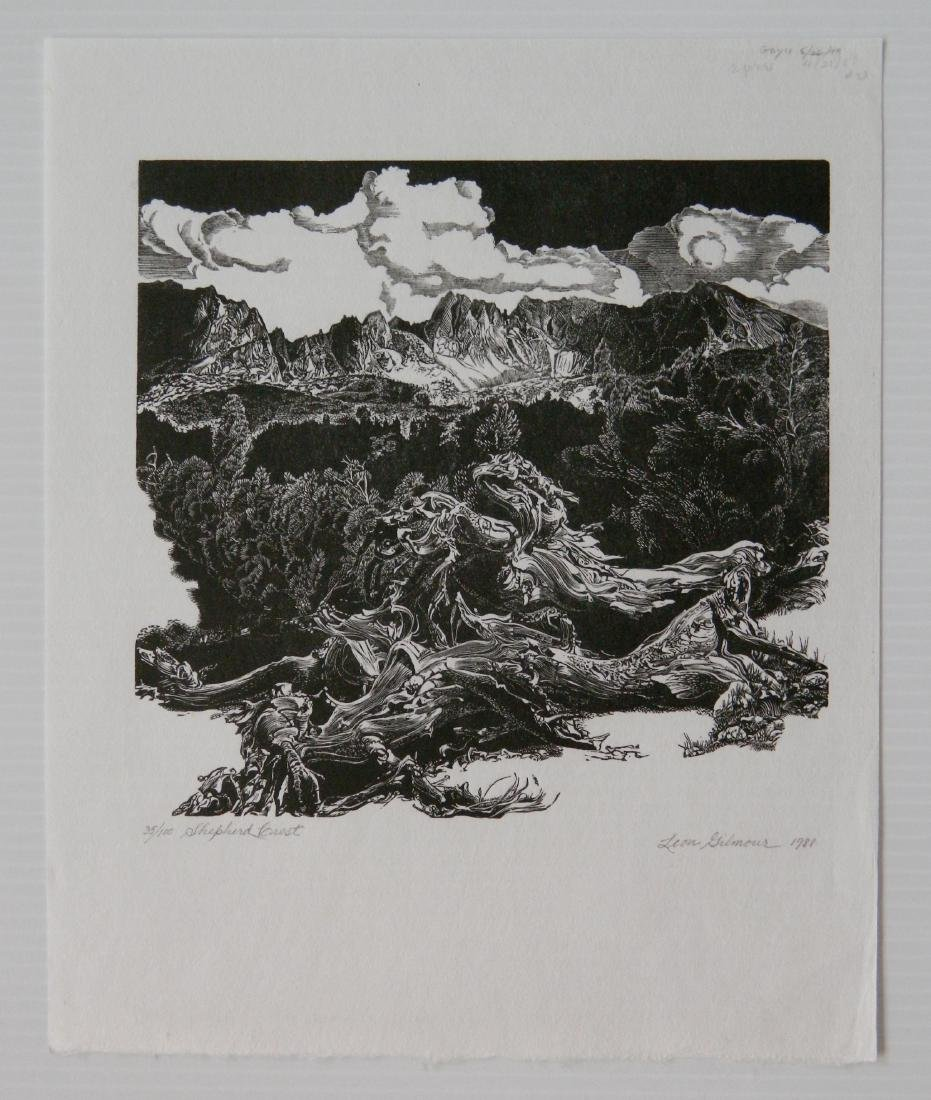 Leon Gilmour 3 wood engravings - 5