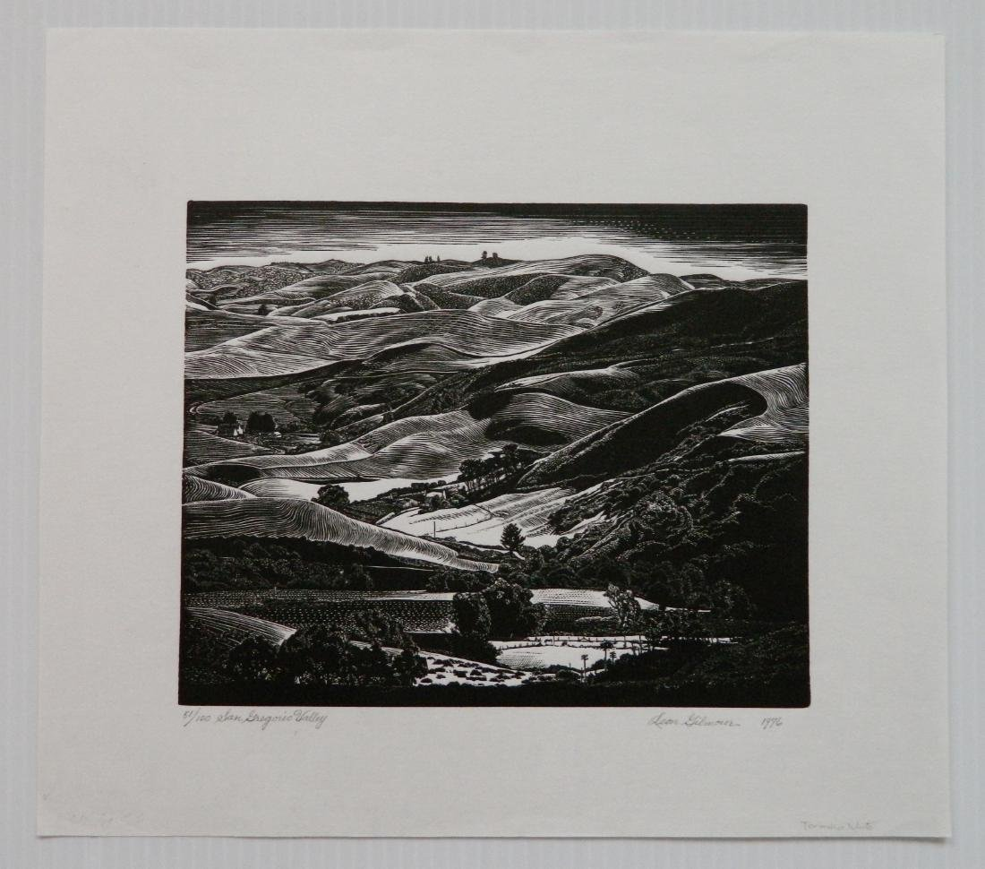 Leon Gilmour 3 wood engravings - 8