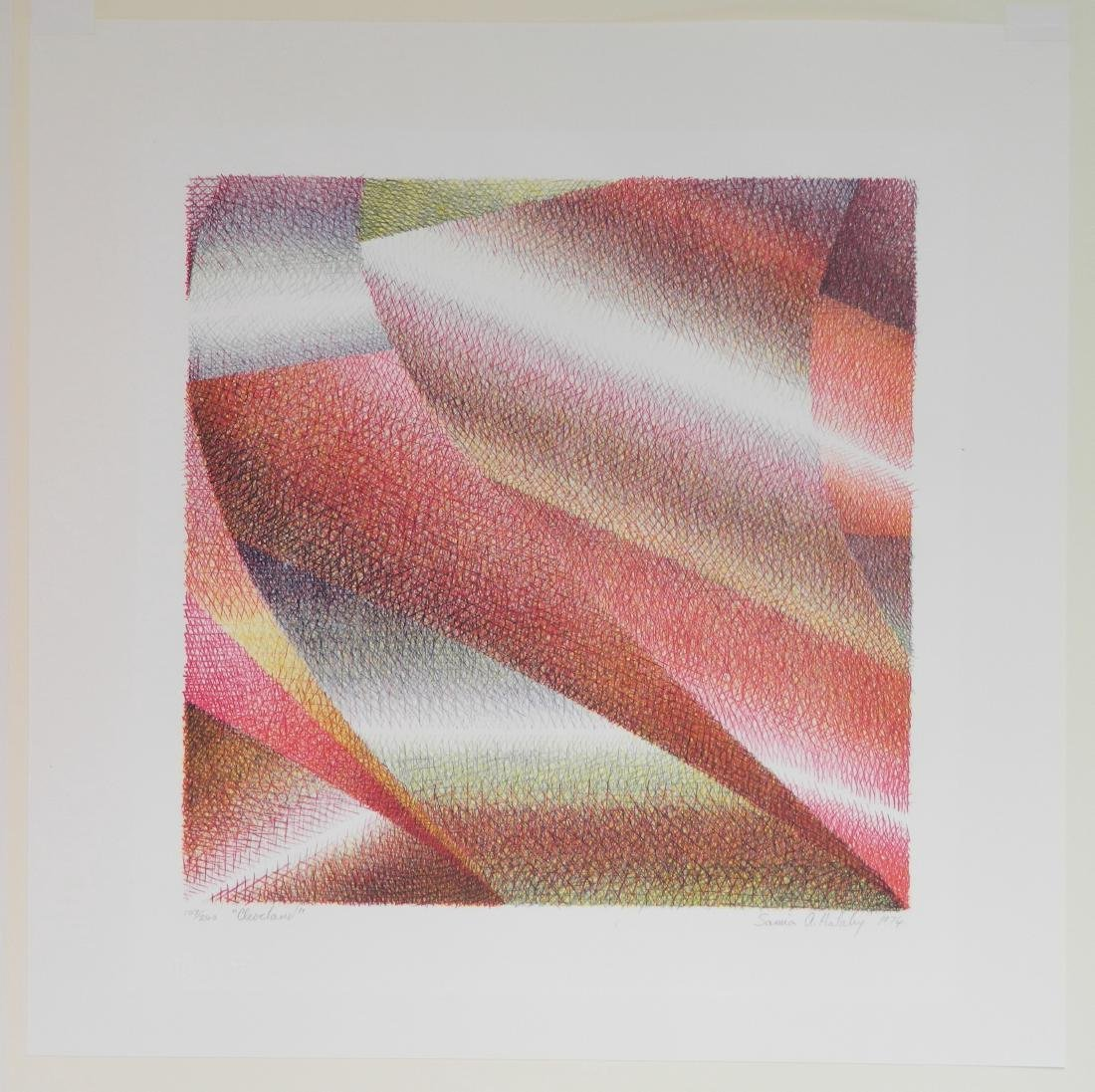 Samia A. Halaby lithograph - 3