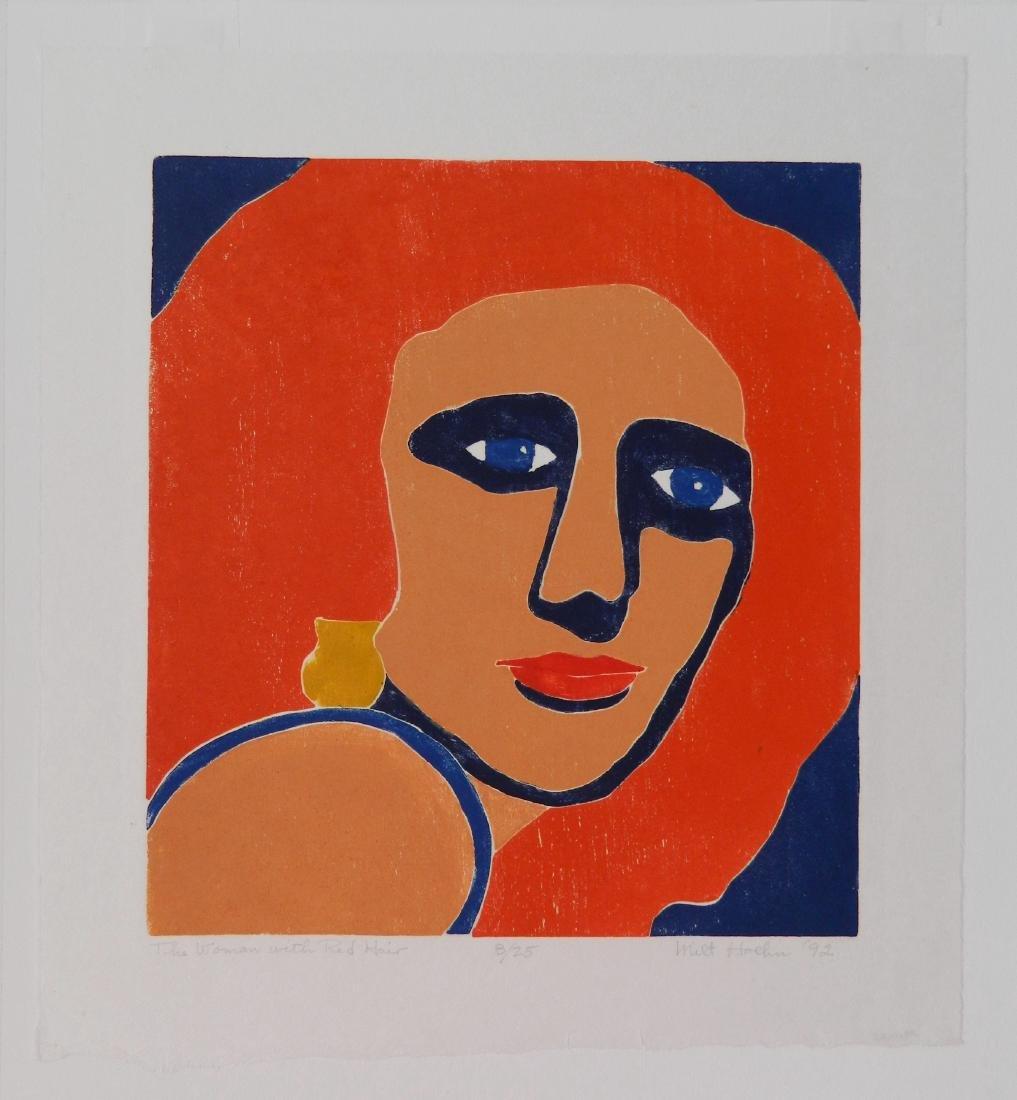 Milt Hoehn woodcut in colors - 2