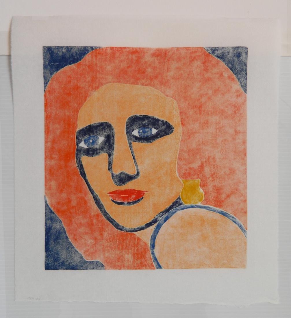 Milt Hoehn woodcut in colors - 4