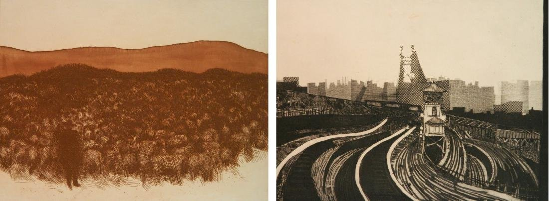 Gerson Leiber 2 etching and aquatint