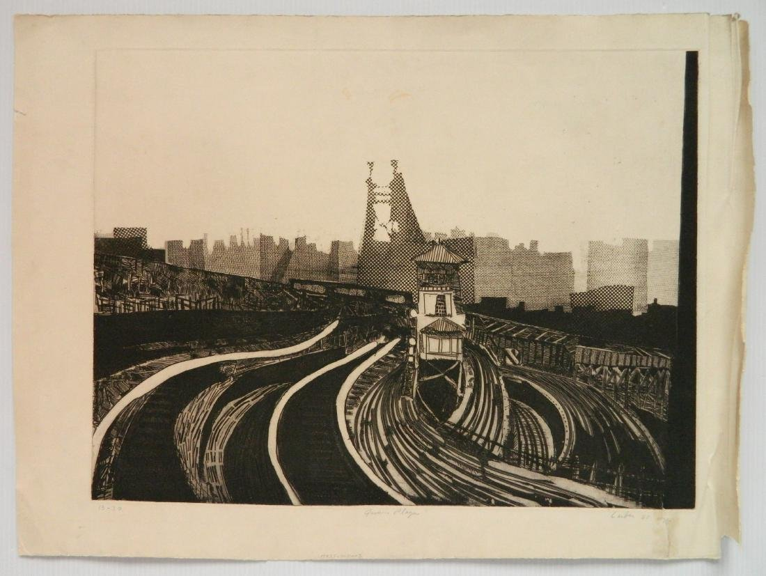 Gerson Leiber 2 etching and aquatint - 2