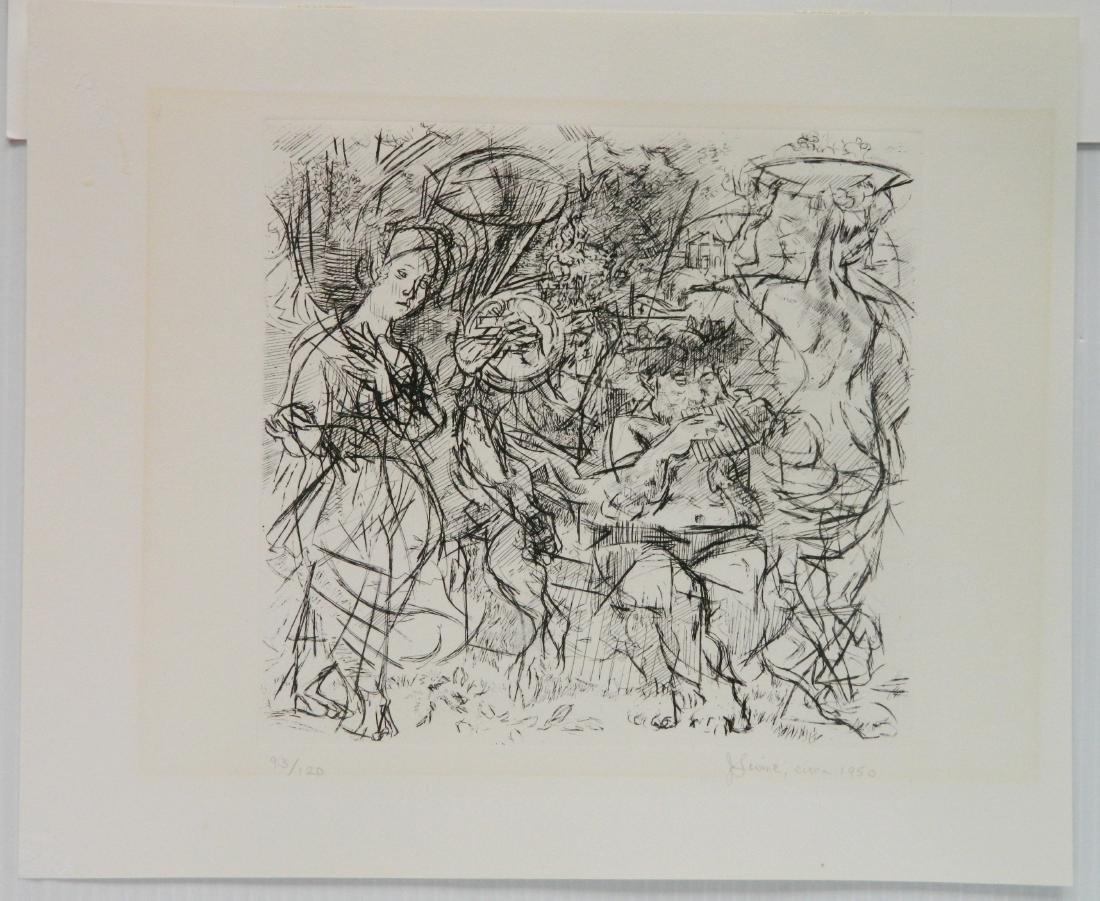 Jack Levine etching - 2