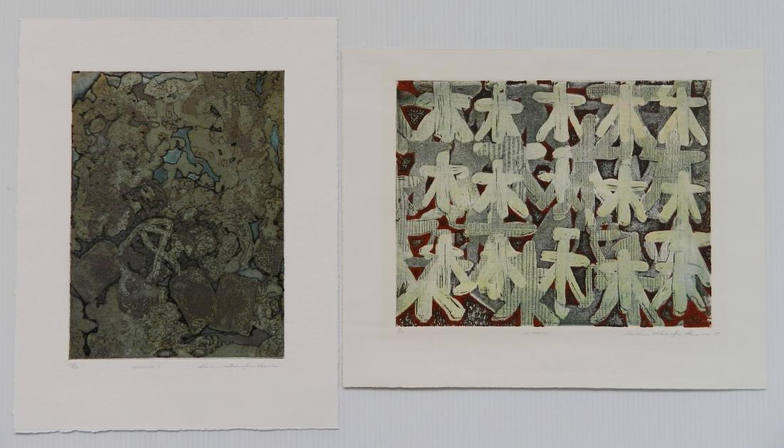Barbara Parsons 2 etchings