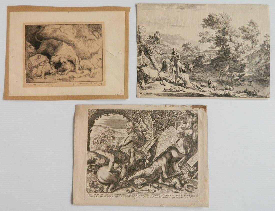 3 Old master etchings