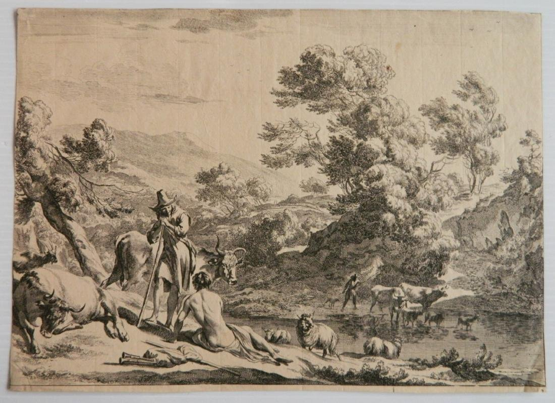 3 Old master etchings - 4