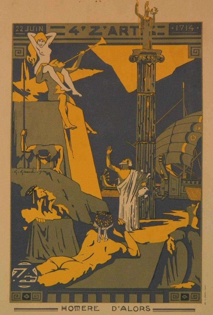 Early 20th c. French lithographic poster