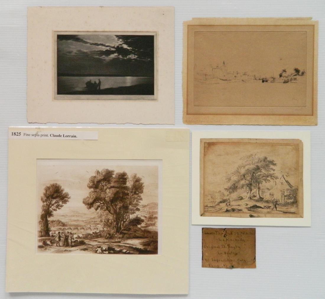 4 European intaglio prints