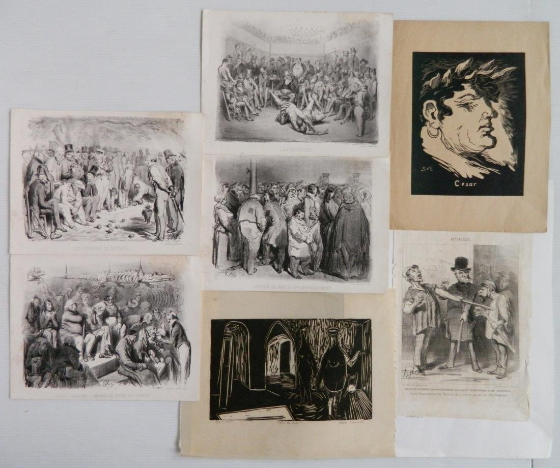 7 American and French prints