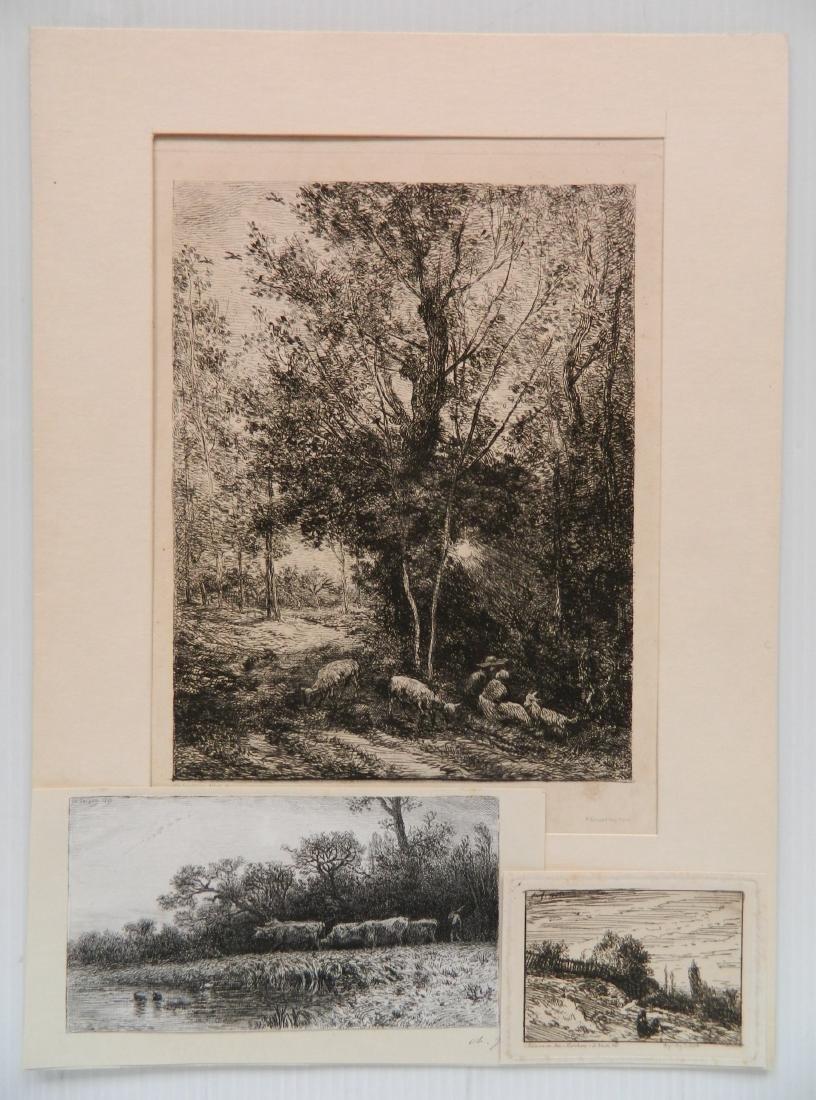 3 European etchings