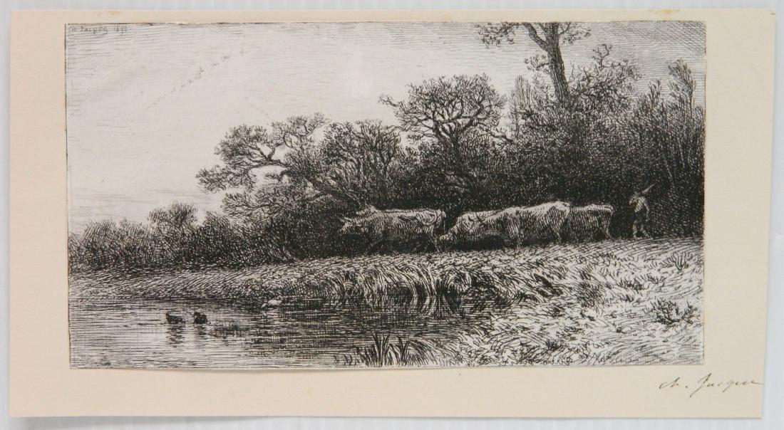 3 European etchings - 2