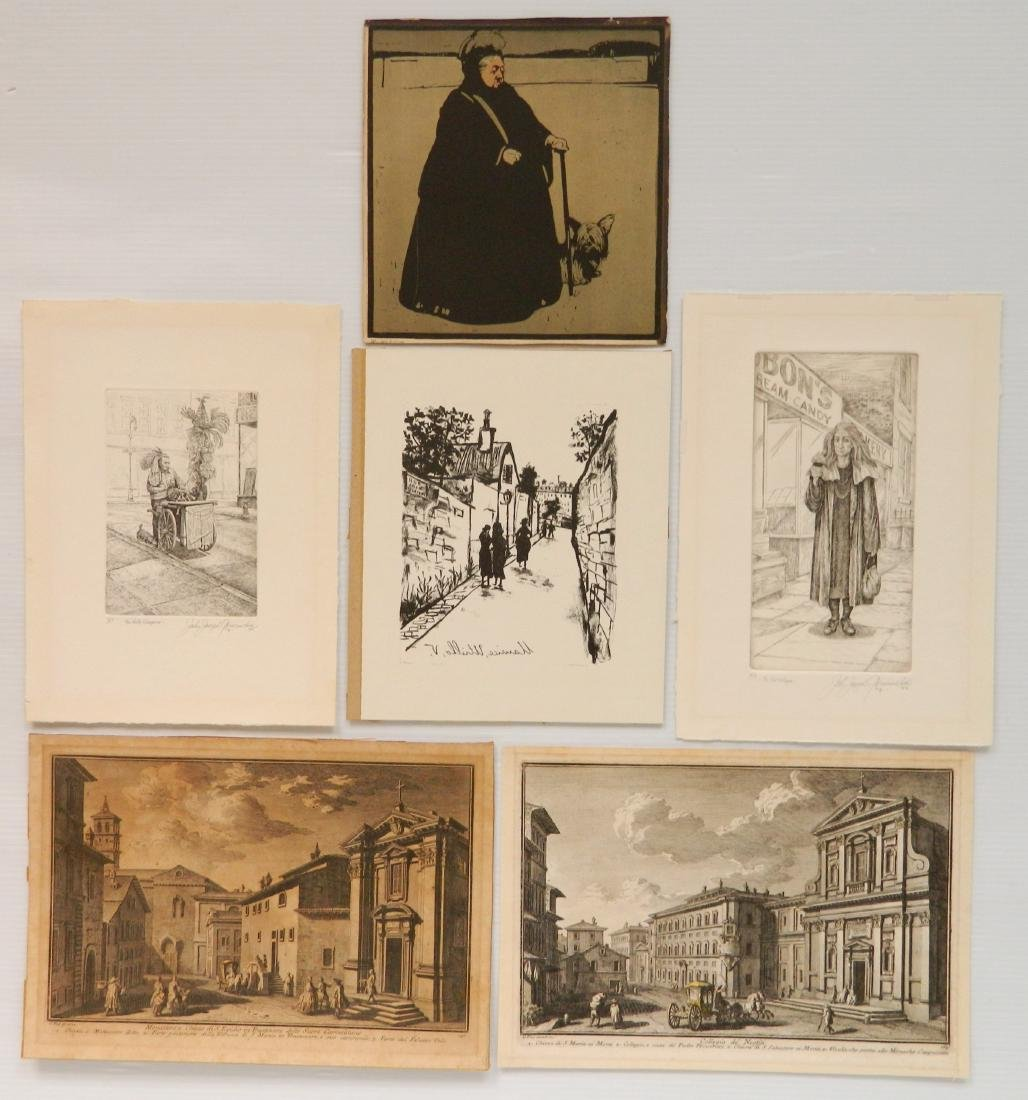 6 European and Contemporary prints
