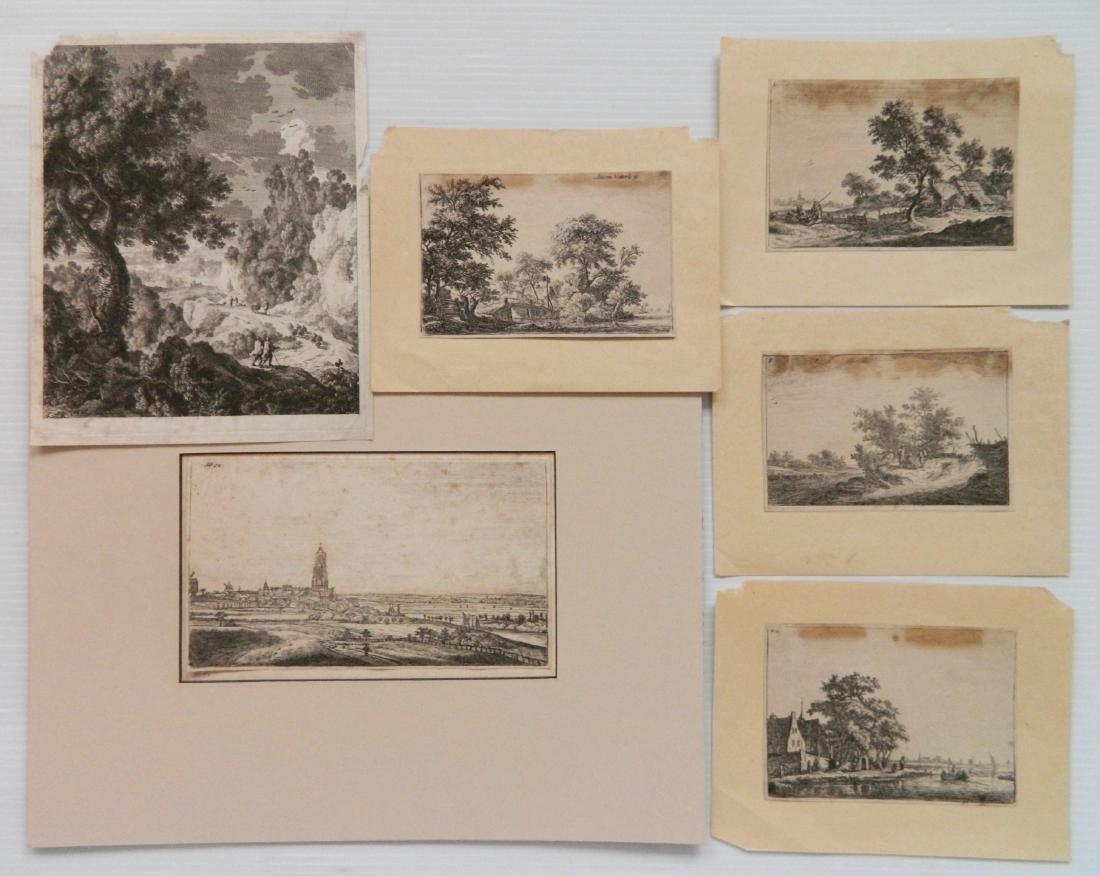 6 Old Master engravings