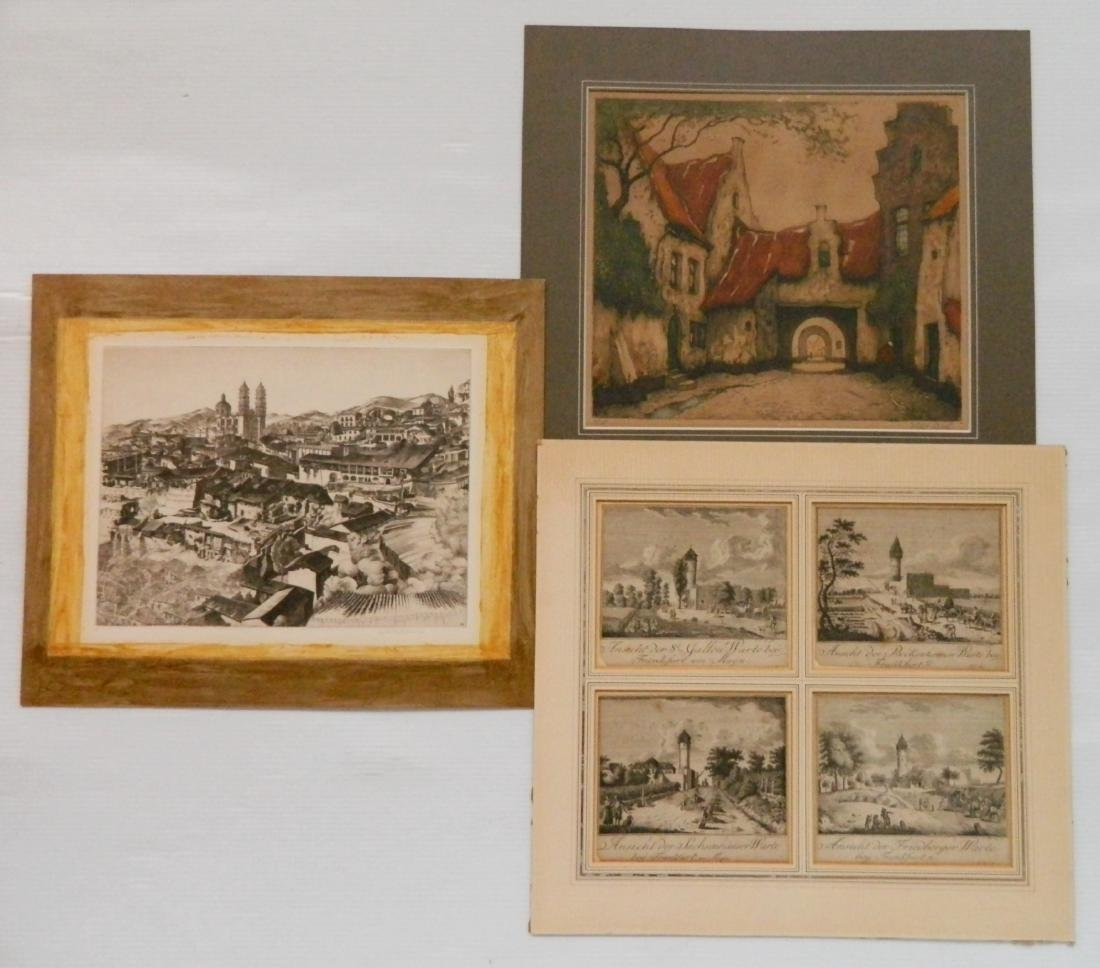 European and American School 6 intaglio prints