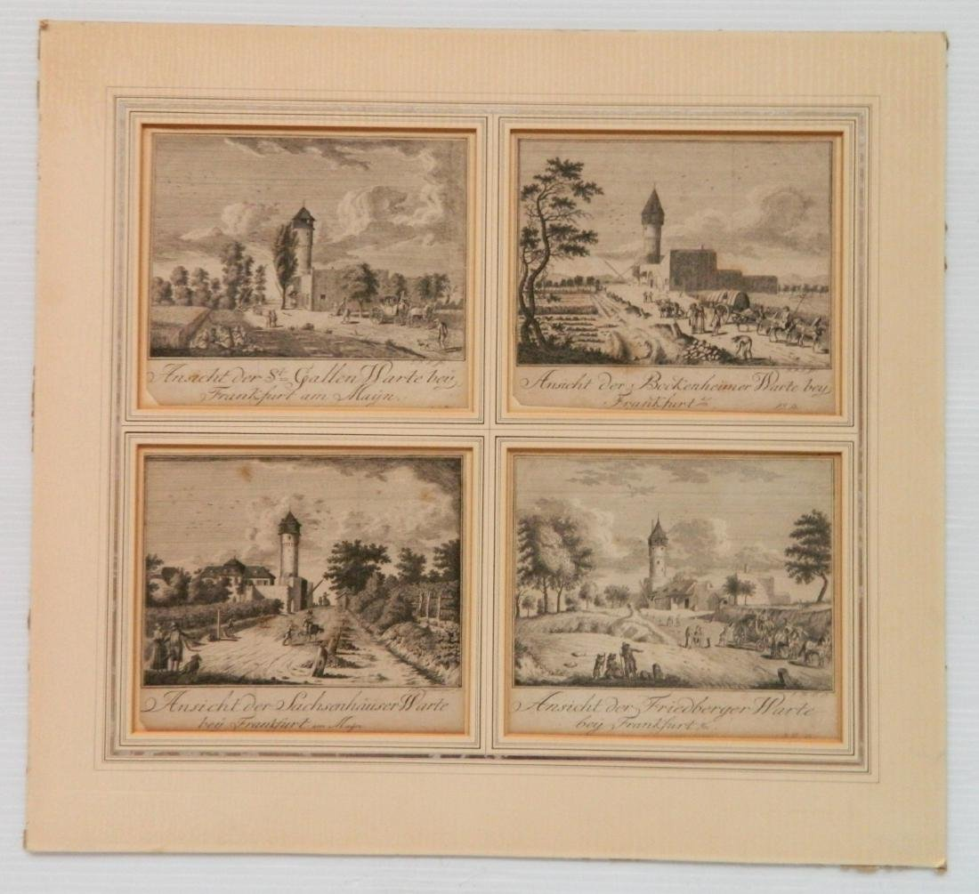 European and American School 6 intaglio prints - 2