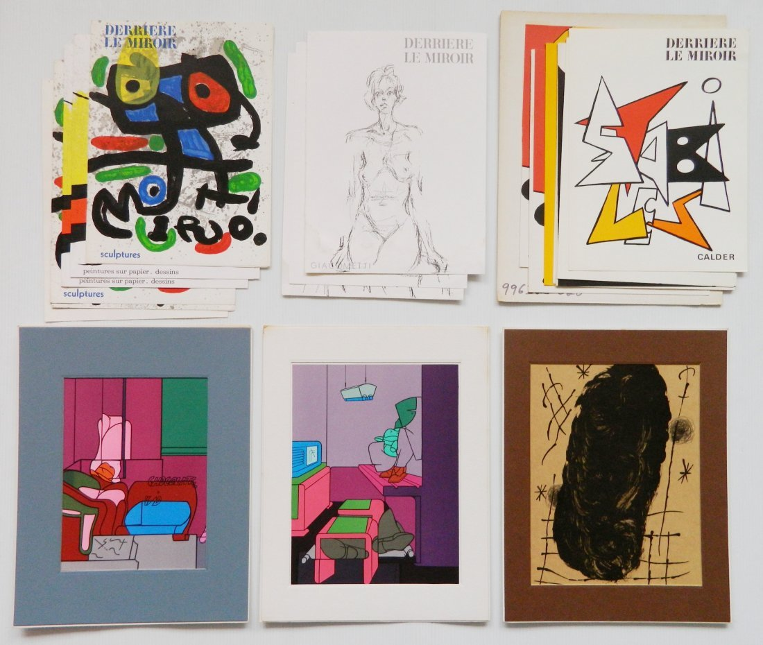 Derriere Le Miroir 18 lithographs in colors