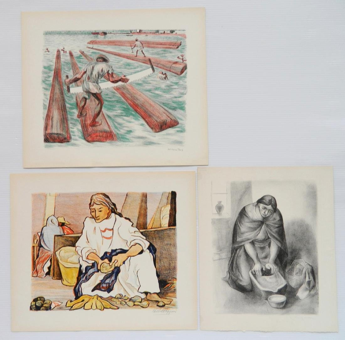 3 Mexican lithographs