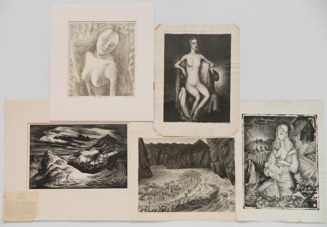 5 American lithographs