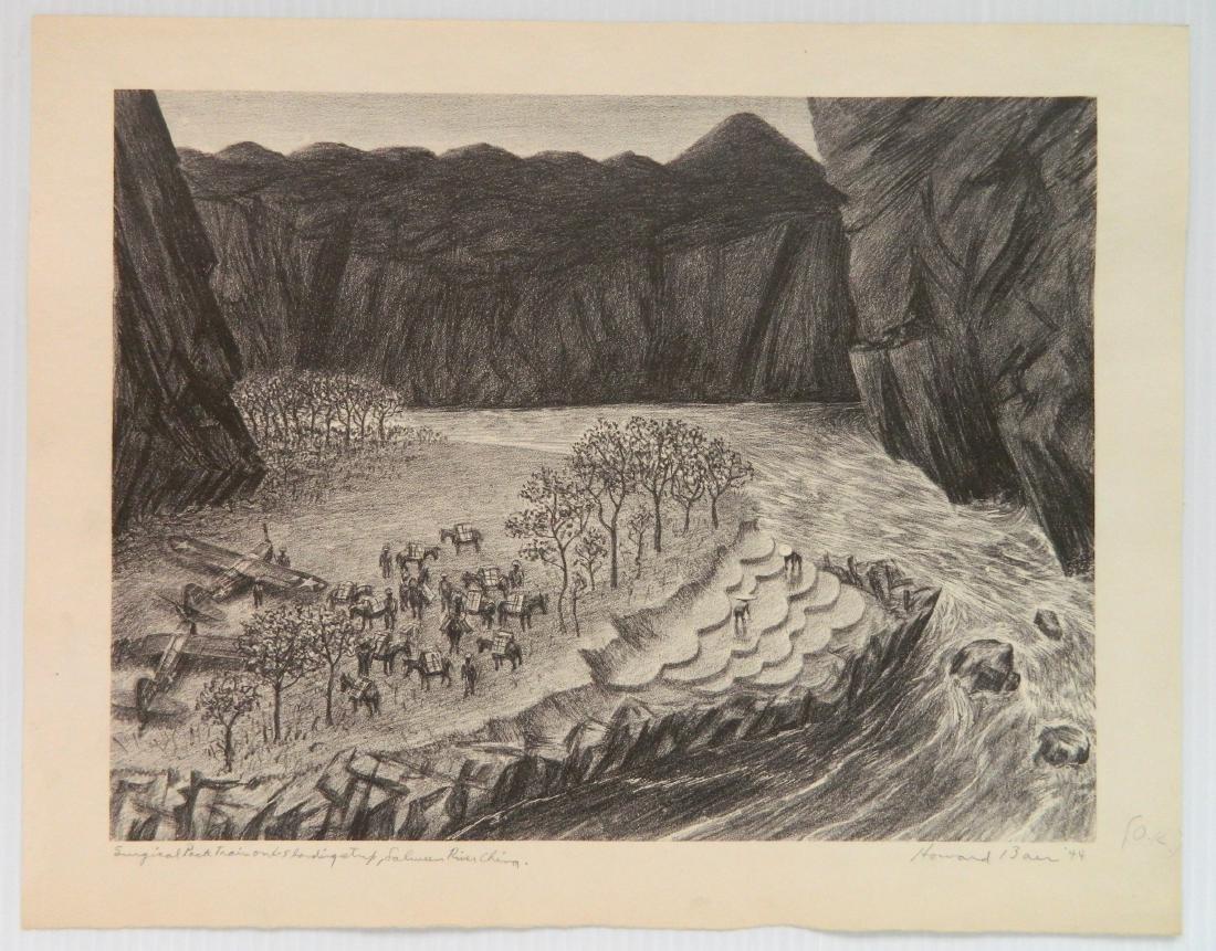 5 American lithographs - 4