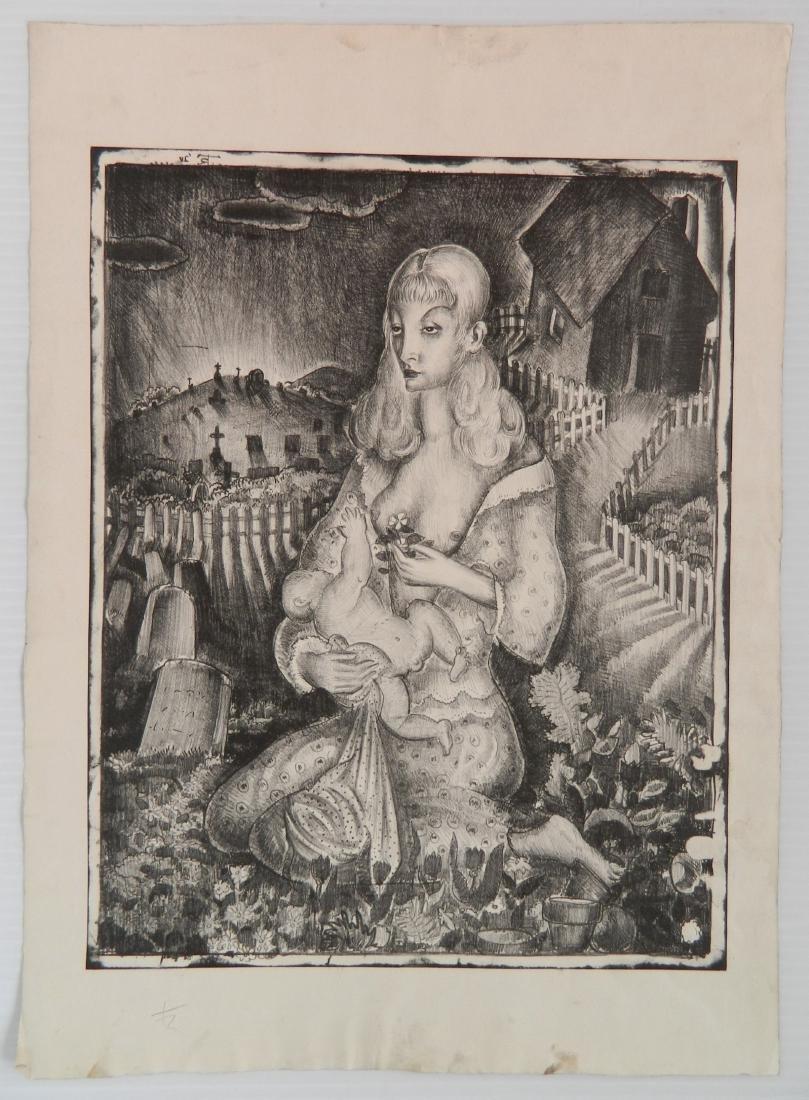 5 American lithographs - 5