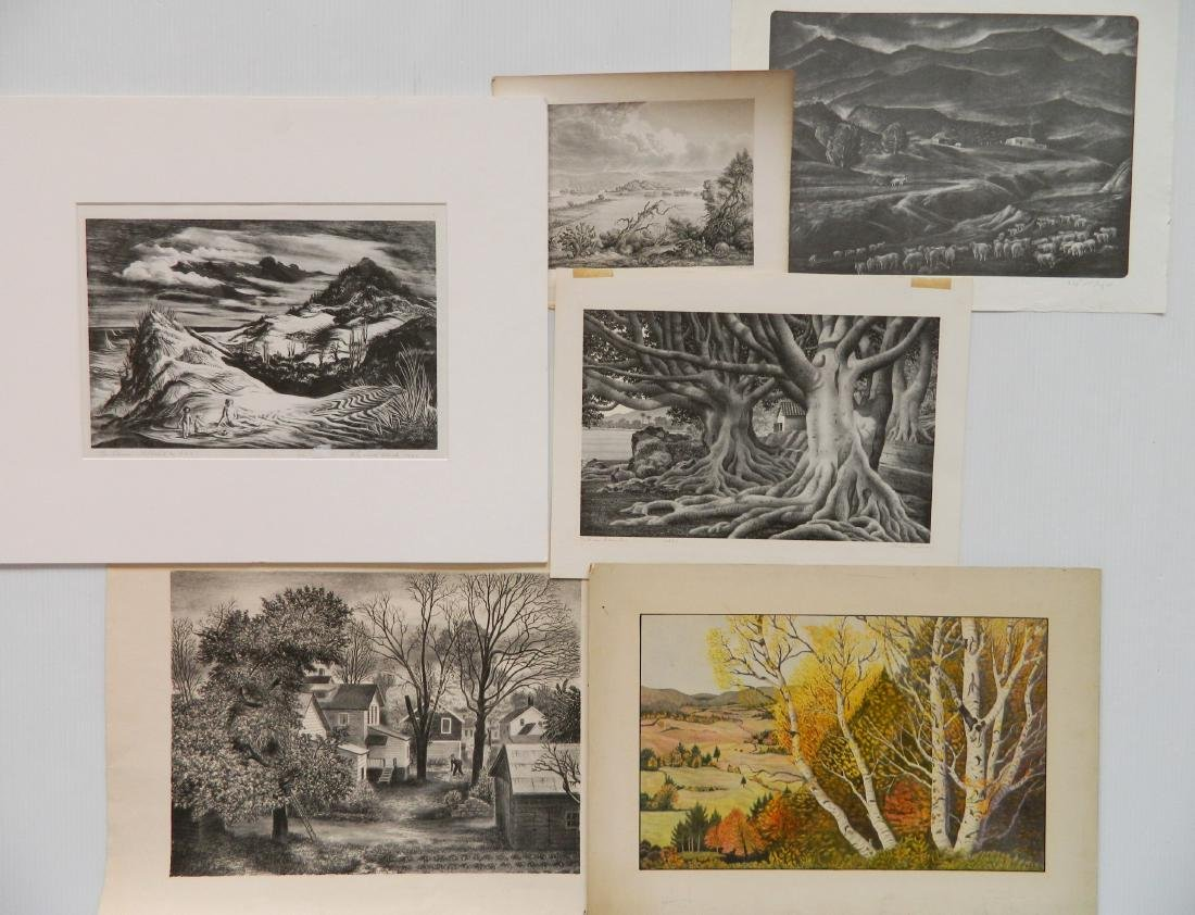 6 American works on paper
