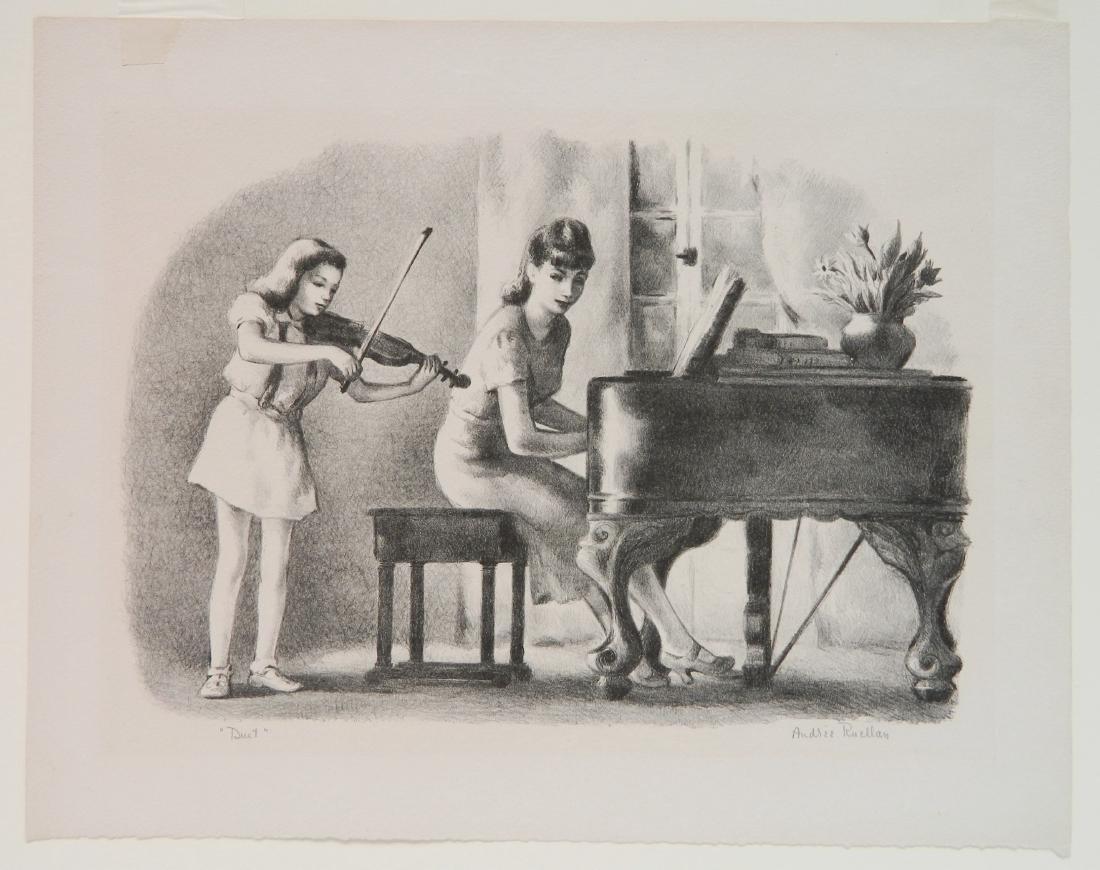 3 American prints- Music themes - 2